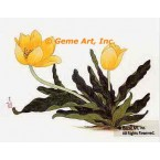 Yellow Tulips  - #OOR15  -  PRINT
