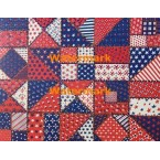 Red, White, & Blue Quilt Pattern  - #XBDE148  -  PRINT
