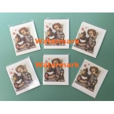 6 Pack Hummel Note Cards  - HNC6753  -  Note Cards with Envelope