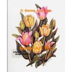 Mixed Tulips  - WOR115  -  PRINT