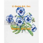 Blue Pansies  - WOR140  -  PRINT