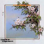 Apple Blossoms with Bees  - ROR164  -  PRINT