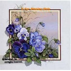 Blue Pansies  - ROR165  -  PRINT