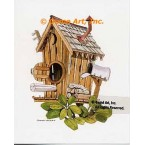 Outhouse Birdhouse  - #NOR53  -  PRINT