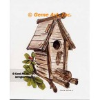 Log Birdhouse  - #NOR55  -  PRINT