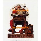 Santa Reading his Mail  - BNR0072  -  PRINT