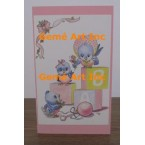 Baby Blocks Note Card  - #CardT974  -  NOTE CARD