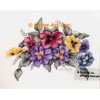 Colorful Mix of Pansies  - ZOR831  -  PRINT