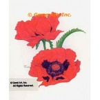 Red Poppies  - #LOR903  -  PRINT