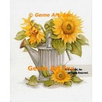 Sunflowers In Watering Can  - #SOR97  -  PRINT