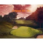 17th Hole at Muirfield Village, Dublin, Ohio  - IOR221  -  PRINT