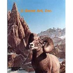 Big Horn Mt. Sheep  - #IOR33  -  PRINT