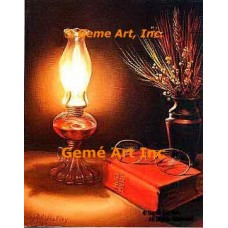 Peace:  Lamp & Bible  - IOR47  -  PRINT
