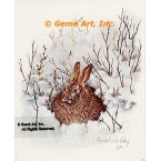 Rabbit in Snow  - #IOR48  -  PRINT