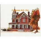 Victorian House  - #TOR801  -  PRINT