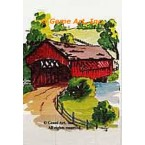 Covered Bridge  - #TOR119  -  PRINT