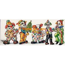 Christmas Clowns  - #469  -  PRINT SIZE 6x15