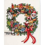 Christmas Wreath  - #TOR876  -  PRINT