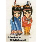 Indian Girl & Boy  - TOR55  -  PRINT