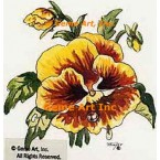 Yellow Gold Pansy  - #TOR2032  -  PRINT