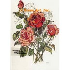 Roses with Baby's Breath  - #TOR993  -  PRINT