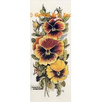 Yellow Gold Pansies  - TOR5021  -  PRINT