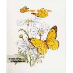 Butterflies With Daisies  - #TOR5086  -  PRINT