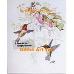 Hummingbirds with Flowers  - TOR5138  -  PRINT