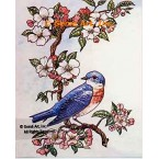 Bird on Branch  - #TOR5151  -  PRINT