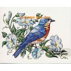 Bird & Morning Glories  - #TOR5157  -  PRINT