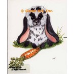 Rabbit With Carrot  - #TOR5201  -  PRINT
