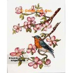 Bird with Pink Dogwood  - #TOR5279  -  PRINT