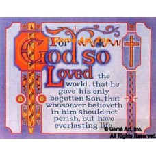 For God So Loved  - DOR17  -  PRINT
