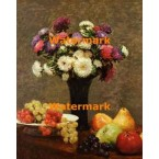 Still Life With Dahlias And Fruit  - XBMC69  -  PRINT