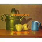 Still Life With Brass And Apples  - #XBSL469  -  PRINT