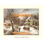 American Homestead Winter  -  XKFL1089  -  PRINT