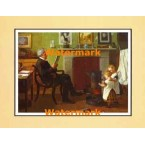 Evening With Grandfather  - #XAR1943  -  PRINT
