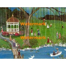 Croquet in the Park  - #XD11399  -  PRINT