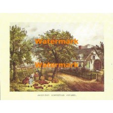 American Homestead Autumn  - #XKVH1086  -  PRINT