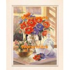 Red And Blue Anemone  - #XKFL4719  -  PRINT