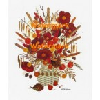 Dried Flowers in Wicker  - XD9543  -  PRINT