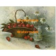 Basket of Strawberries  - XKA8639  -  PRINT