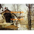 Mallards & Covered Bridge  - XS4546  -  PRINT