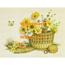 Daisies in Woven Basket  - XS5122  -  PRINT