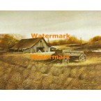 Wagon And Barn  - XS6188  -  PRINT
