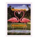 Flamingo Heart  - #XAR5038  -  PRINT