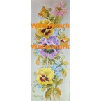 Yellow & Purple Pansies  -  #XS122  -  PRINT