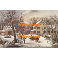 American Homestead Winter  - XKBF1089  -  PRINT