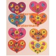Hearts and Flowers  - XD7999  -  PRINT