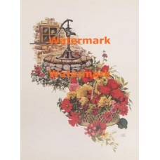 Flowers At Water Pump  - XKN4002  -  PRINT